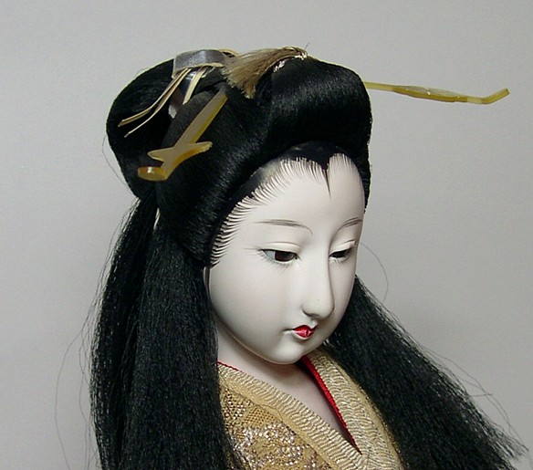 japanese antique doll of a noble lady 1920s japanese