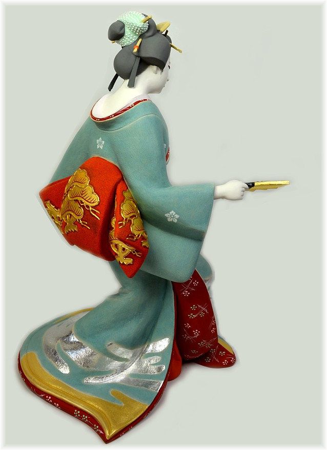 Japanese Hakata Doll Of A Geisha Dancing 1980 S Japanese